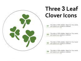 Three 3 Leaf Clover Icons