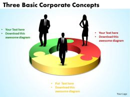 Three  Basic Corporat  Concepts Of World Business Powerpoint Templates ppt presentation slides 812
