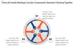Three All Hands Meetings Circular Components Teamwork Working Together