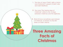 Three Amazing Facts Of Christmas