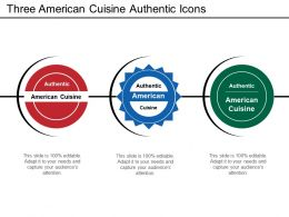 Three American Cuisine Authentic Icons