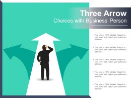 Three Arrow Choices With Business Person