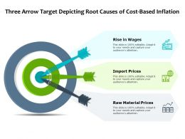Three Arrow Target Depicting Root Causes Of Cost Based Inflation