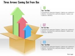 Three Arrows Coming Out From Box Powerpoint Template