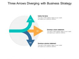 Three Arrows Diverging With Business Strategy
