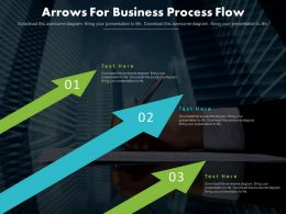 Three Arrows For Business Process Flow Diagram Powerpoint Slides