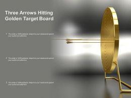 Three Arrows Hitting Golden Target Board