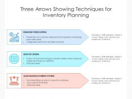 Three Arrows Showing Techniques For Inventory Planning