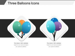 Three Balloons Icons