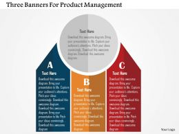 Three Banners For Product Management Flat Powerpoint Design
