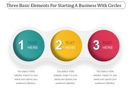 Three Basic Elements For Starting A Business With Circles Powerpoint Slide Template