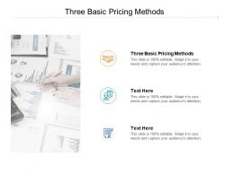 Three Basic Pricing Methods Ppt Powerpoint Presentation Outline Outfit Cpb