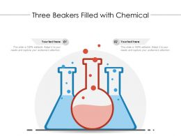 Three Beakers Filled With Chemical