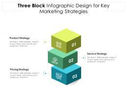 Three Block Infographic Design For Key Marketing Strategies