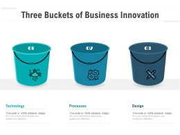 Three Buckets Of Business Innovation