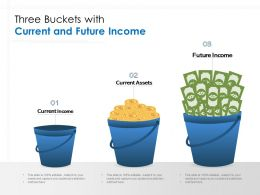Three Buckets With Current And Future Income