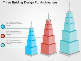 Three Building Design For Architecture Flat Powerpoint Design