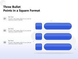 Three Bullet Points In A Square Format