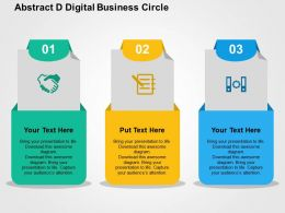 Three Business Application With Digital Technology Flat Powerpoint Design