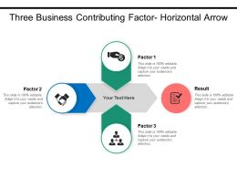 Three Business Contributing Factor Horizontal Arrow