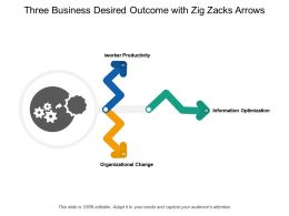 Three Business Desired Outcome With Zig Zacks Arrows