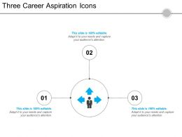 Three Career Aspiration Icons 3 Powerpoint Slide Template