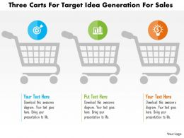 Three Carts For Target Idea Generation For Sales Flat Powerpoint Design