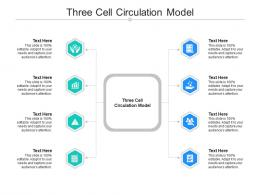 Three Cell Circulation Model Ppt Powerpoint Presentation Gallery Design Inspiration Cpb