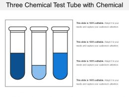 Three Chemical Test Tube With Chemical