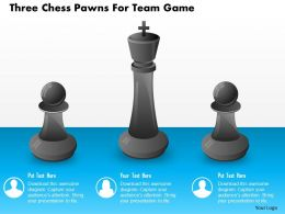 Three Chess Pawns For Team Game Powerpoint Template