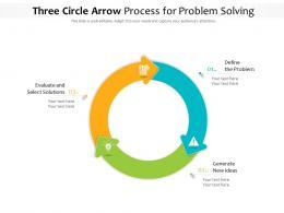 Three Circle Arrow Process For Problem Solving