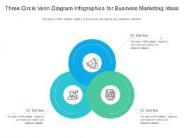 Three Circle Venn Diagram For Business Marketing Ideas Infographic Template