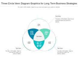 Three Circle Venn Diagram Graphics For Long Term Business Strategies Infographic Template