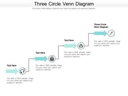 Three Circle Venn Diagram Ppt Powerpoint Presentation File Maker Cpb