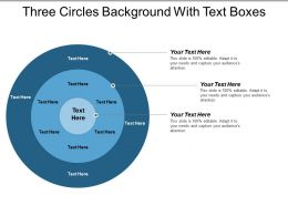 Three Circles Background With Text Boxes