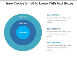 Three Circles Small To Large With Text Boxes