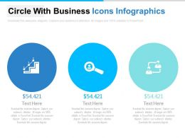 Three Circles With Business Icons Infographics Powerpoint Slides