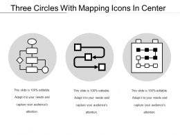 Three Circles With Mapping Icons In Center