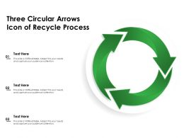 Three Circular Arrows Icon Of Recycle Process