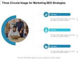 Three Circular Image For Marketing SEO Strategies Infographic Template