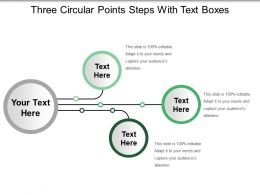 Three Circular Points Steps With Text Boxes