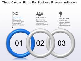 Three Circular Rings For Business Process Indication Powerpoint Template Slide