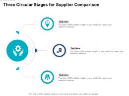 Three Circular Stages For Supplier Comparison Infographic Template