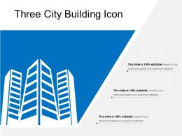 Three City Building Icon
