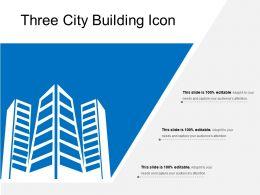 Three City Building Icon