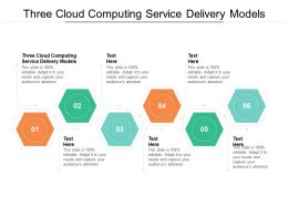 Three Cloud Computing Service Delivery Models Ppt Powerpoint Infographics Example Cpb