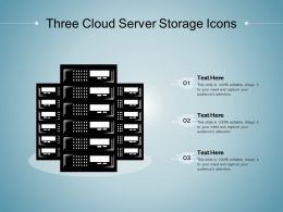 Three Cloud Server Storage Icons