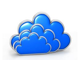 Three Clouds With Blue Color Stock Photo