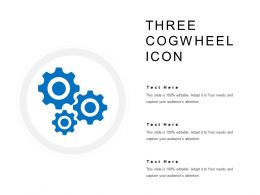 Three Cogwheel Icon