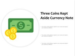 Three Coins Kept Aside Currency Note